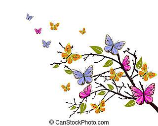 papillon, branche