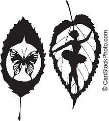 papillon, congé, fait, eps