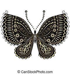 papillon, fantasme, black-gold, vendange