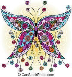 papillon, fantasme, printemps, vendange