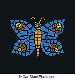papillon, mosaïque