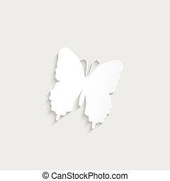 papillon, papier, illustration