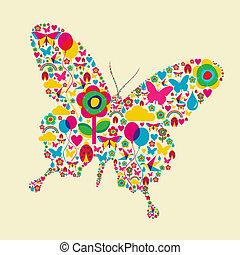 papillon, temps ressort