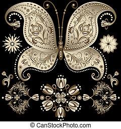 papillon, vendange, or