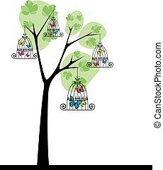 papillons, arbre 3