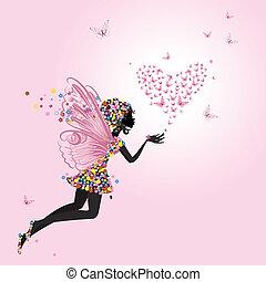 papillons, fée, valentin