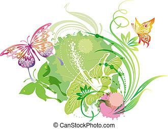 papillons, illustration