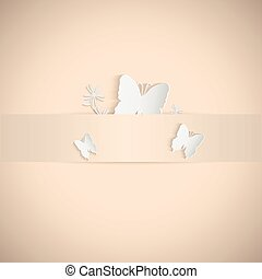 papillons, papier