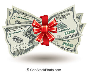 paquet, épais, dollars