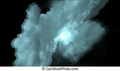 par, jeûne, nuages tempête