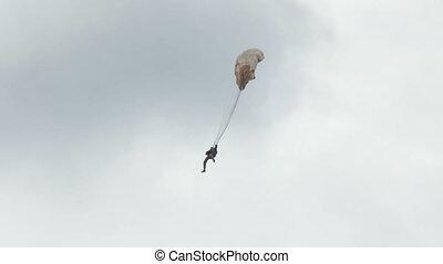 parachute, altitude, saut, bas, ultra, extrême