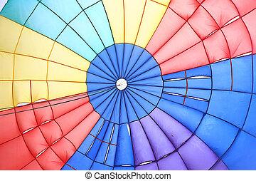 parachute, intérieur, vue