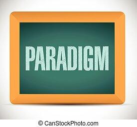 paradigm, signe, illustration, conception