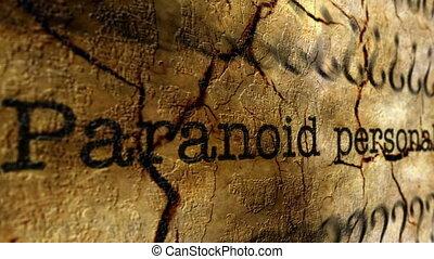 paranoïde, désordre, concept, grunge