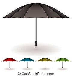 parapluie, coloré, collection
