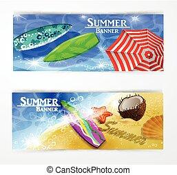 parapluie, coloré, piscine, natation