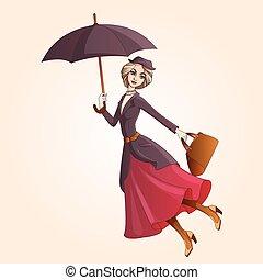 parapluie, roman, marier, poppins, voler, caractère