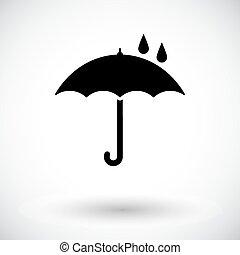 parapluie, vector., icône
