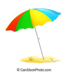 parasol, 10eps, plage