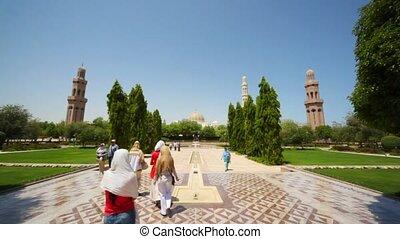 parc, capital, -, touristes, aborigènes, promenades, oman, muscat