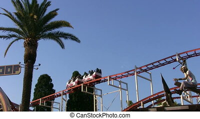 parc, cavalier, amusement