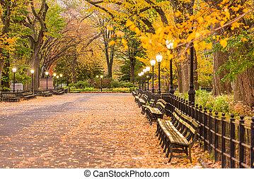parc central, centre commercial, ville, new york