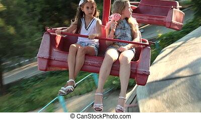 parc, enfants, amusement