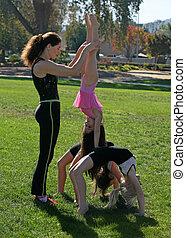 parc, gymnastes