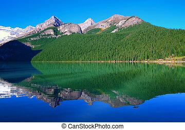 parc national, lac, banff, louise