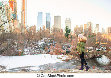 parc, new york, adorable, central, girl