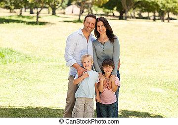 parc, portrait famille