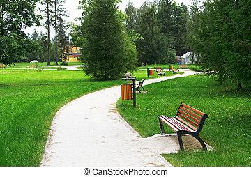 parc, ruelle