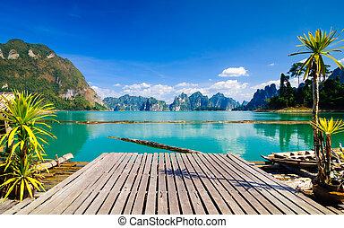 parc, sok, khao, national, thaïlande