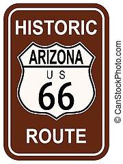 parcours, historique, 66, arizona