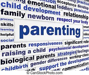 parenting, pédagogique, message