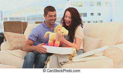 parents, bébé, mignon, gam, avenir
