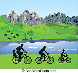 parents, enfants, cyclisme, quand