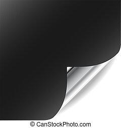 parfait, ajouter, frisé, gallery., texte, page, vecteur, coin, design., mon, shadow., plus