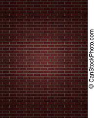 parfait, mur, brique