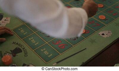 paris, haut., poker, joueurs, jeu, fin, confection, risqué