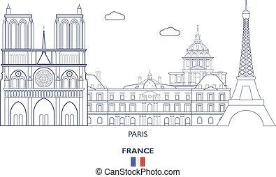 paris, horizon ville, france