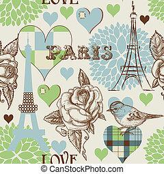 paris, modèle, seamless