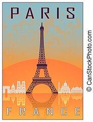 paris, vendange, affiche
