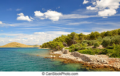 park., kornati, national, croatia., îles