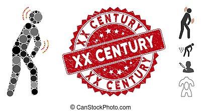 parkinson, maladie, siècle, xx, cachet, mosaïque, icône, gratté