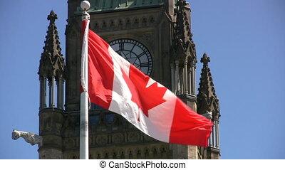 parlement canadien, drapeau