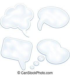 parole, bulles, nuages