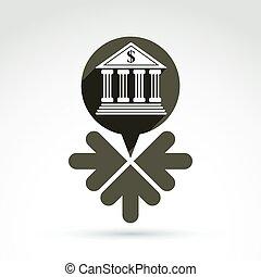 parole, bulles, revenu, concept., vecteur, sources, w, symbole, banque