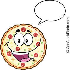 parole, caractère, bulle, pizza