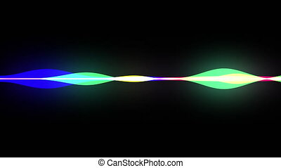 parole, forme onde, horizontal, voix